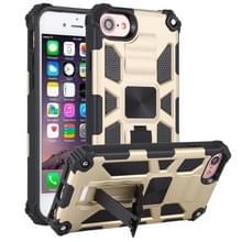 Voor iPhone 6 Schokbestendige TPU + PC Magnetic Protective Case met Holder(Gold)