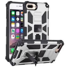 Voor iPhone 6 Plus Schokbestendige TPU + pc magnetische beschermhoes met houder(zilver)