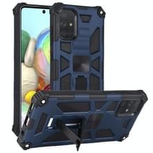Voor Samsung Galaxy A71 Schokbestendige TPU + PC Magnetic Protective Case met Holder(Blue)