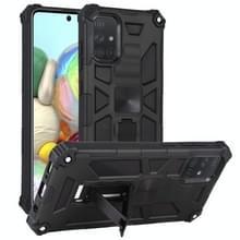 Voor Samsung Galaxy A71 Schokbestendige TPU + PC Magnetic Protective Case met Holder(Black)