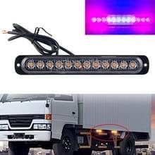 DC12V-24V / 36W Car Truck Emergency Strobe Flash Waarschuwingslampje 12LEDs Lang ultradunne zijlichten (Rood + Blauw + Rood)