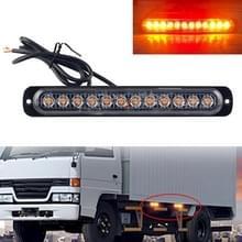 DC12V-24V / 36W Car Truck Emergency Strobe Flash Waarschuwingslampje 12LEDs Lang ultradunne zijlichten (Geel + Rood + Geel)