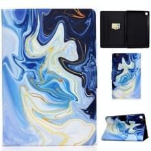 Voor Samsung Galaxy Tab S6 Lite P610 / P615 Voltage Painted Pattern Tablet PC Protective Leather Case met Bracket & Card Slots & Sleep / Wake-up & Anti-skid Strip(Blue Marble)