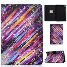 Voor Samsung Galaxy Tab S6 Lite P610 / P615 Voltage Painted Pattern Tablet PC Protective Leather Case met Bracket & Card Slots & Sleep / Wake-up & Anti-slip Strip(Meteor)
