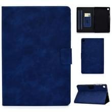 Voor Samsung Galaxy Tab S6 Lite P610/P615 Cowhide Texture Horizontale Flip Lederen case met Holder & Card Slots & Sleep / Wake-up Functie(Blauw)