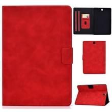 Voor Samsung Galaxy Tab A 9.7 T550/T555C Cowhide Texture Horizontale Flip Lederen case met Holder & Card Slots & Sleep / Wake-up Functie(Rood)
