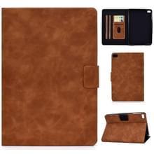 Voor iPad mini 5 / 4 / 3 / 2 / 1 Cowhide Texture Horizontale Flip Leather Case met Holder & Card Slots & Sleep / Wake-up Functie(Brown)