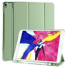 Voor iPad Pro 10 5 inch / Air 3 10 5 inch 3-vouwend horizontaal flip pu leder + schokbestendige TPU-behuizing met houder & pensleuf (Matcha Green)