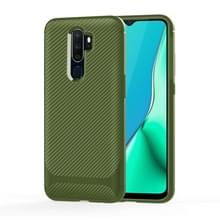 Voor OPPO A9 (2020) / A5(2020) Carbon Fiber Texture Shockproof TPU Protective Case(Groen)