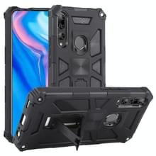Voor Huawei Y9 Prime (2019) Shockproof TPU + PC Magnetic Protective Case met Holder(Black)