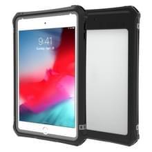 Voor iPad mini (2019) RedPepper Shockproof Waterproof PC + TPU Beschermhoes met Lanyard & Holder(Zwart)
