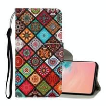 Voor Samsung Galaxy S10 Gekleurd tekenpatroon Horizontaal Flip Lederen hoesje met Houder & Card Slots & Wallet & Lanyard(Ethnic Style)