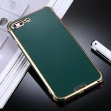 Voor iPhone 8 Plus / 7 Plus SULADA Kleurrijke Shield Series TPU + Plating Edge Beschermhoes (Donkergroen)