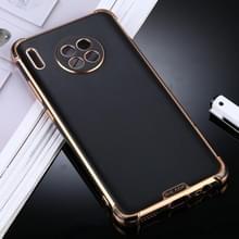 Voor Huawei Mate 30 SULADA Kleurrijke Shield Series TPU + Plating Edge Beschermhoes(Zwart)