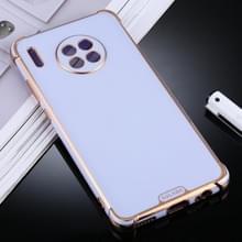 Voor Huawei Mate 30 SULADA Kleurrijke Shield Series TPU + Plating Edge Beschermhoes (Licht paars)