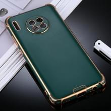 Voor Huawei Mate 30 SULADA Kleurrijke Shield Series TPU + Plating Edge Beschermhoes (Donkergroen)