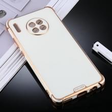 Voor Huawei Mate 30 Pro SULADA Kleurrijke Shield Series TPU + Plating Edge Beschermhoes(Wit)