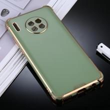 Voor Huawei Mate 30 Pro SULADA Kleurrijke Shield Series TPU + Plating Edge Beschermhoes(Groen)