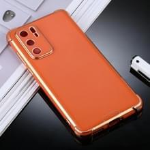 Voor Huawei P40 SULADA Kleurrijke Shield Series TPU + Plating Edge Beschermhoes (Oranje)
