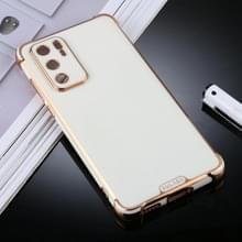Voor Huawei P40 SULADA Kleurrijke Shield Series TPU + Plating Edge Beschermhoes (Wit)