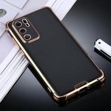 Voor Huawei P40 SULADA Kleurrijke Shield Series TPU + Plating Edge Protective Case(Zwart)