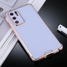 Voor Huawei P40 SULADA Kleurrijke Shield Series TPU + Plating Edge Beschermhoes (Licht paars)