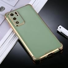 Voor Huawei P40 SULADA Kleurrijke Shield Series TPU + Plating Edge Beschermhoes(Groen)