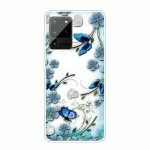 Voor Samsung Galaxy Note 20 Ultra Schokbestendig geschilderde TPU beschermhoes (Chrysant Butterfly)