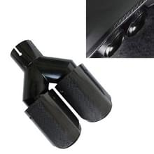Auto Glossy Gelijke Lengte Type Y-type Double Outlets Carbon Fiber Uitlaatpijp staart keel  luchtinlaat diameter: 54mm