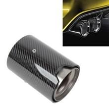 Auto gemodificeerde glanzende oppervlakte uitlaatpijp koolstofvezel staart keel voor BMW M2 / M3 / M4 / M5  Buitenste diameter van Air Inlet:70mm