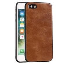 Voor iPhone 7 / 8 Crazy Horse Textured Kalfsleer PU +PC + TPU Case (Bruin)