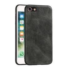 Voor iPhone 7 / 8 Crazy Horse Textured Kalfsleer PU +PC + TPU Case(Groen)