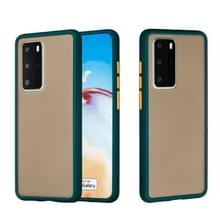 Voor Huawei P40 Pro Skin Hand Feeling Series Anti-fall Frosted PC+ TPU Protective Case(Groen)