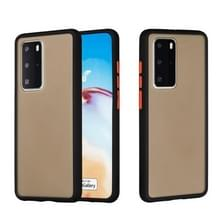 Voor Huawei P40 Pro Skin Hand Feeling Series Anti-fall Frosted PC+ TPU Protective Case(Zwart)