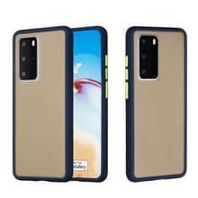 Voor Huawei P40 Pro Skin Hand Feeling Series Anti-fall Frosted PC+ TPU Protective Case(Blauw)