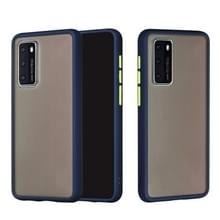 Voor Huawei P40 Skin Hand Feeling Series Anti-fall Frosted PC+ TPU Protective Case(Blauw)
