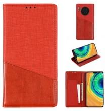 Voor Huawei Mate 30 MUXMA MX109 Horizontale Flip Lederen behuizing met Holder & Card Slot & Wallet(Rood)