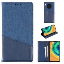 Voor Huawei Mate 30 MUXMA MX109 Horizontale Flip Lederen behuizing met Holder & Card Slot & Wallet(Blauw)
