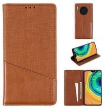 Voor Huawei Mate 30 MUXMA MX109 Horizontale Flip Lederen case met Holder & Card Slot & Wallet(Bruin)
