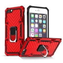 Voor iPhone 6 / 6s Cool Armor PC+TPU Shockproof Case met 360 graden rotatieringhouder(rood)