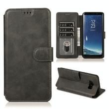 Voor Samsung Galaxy S8 Kalf texture magnetische gesp horizontale flip lederen case met houder & kaartslots & portemonnee & fotoframe(zwart)