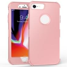 Voor iPhone 6 / 6s 3 in 1 All-inclusive Shockproof Airbag Siliconen + PC Case(Rose Gold)