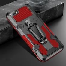 Voor iPhone 8 & 7 Machine Armor Warrior Shockproof PC + TPU Beschermhoes(Rood)