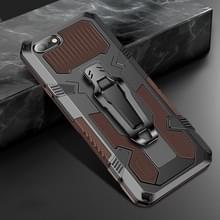 Voor iPhone 8 & 7 Machine Armor Warrior Shockproof PC + TPU Beschermhoes(Koffie)