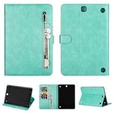 Voor Samsung Galaxy Tab A9.7 T550 Tablet Fashion Kalf textuur Rits horizontale flip lederen koffer met Stand & Card Slots & Wallet & Wake-up / Slaapfunctie(Groen)