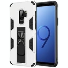 Voor Samsung Galaxy S9+ Soldier Armor Shockproof TPU + PC Magnetic Protective Case met Holder(White)