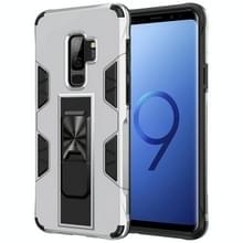 Voor Samsung Galaxy S9+ Soldier Armor Shockproof TPU + PC Magnetic Protective Case met Holder(Silver)