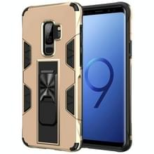 Voor Samsung Galaxy S9+ Soldier Armor Shockproof TPU + PC Magnetic Protective Case met Holder(Gold)