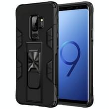 Voor Samsung Galaxy S9+ Soldier Armor Shockproof TPU + PC Magnetic Protective Case met Holder(Black)