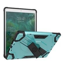 Voor iPad 9.7 (2018) & (2017) Escort Series TPU + PC Shockproof Beschermhoes met houder (MintGroen)